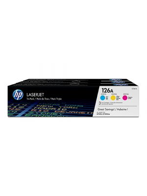 HP #126A Cyan / Magenta / Yellow Value Pack