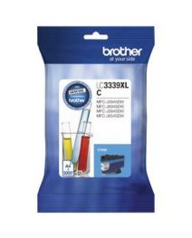 Brother LC-3339XLC Genuine High Yield Cyan Ink Cartridge - 5,000 pages