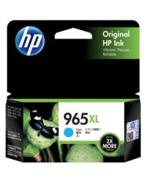 HP 965XL Genuine Cyan High Yield Ink Cartridge 3JA81AA - 1,600 Pages