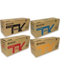 4-Pack Genuine Kyocera TK-5274 Toner Cartridge Combo Ecosys P6230CDN, M6230CIDN, M6630CIDN [1BK,1C,1M,1Y]