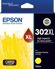Epson 302 Genuine High Yield Yellow Ink Cartridge