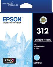 Epson 312 (C13T182592) Genuine Light Cyan Inkjet Cartridge