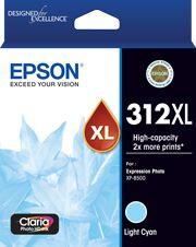 Epson 312XL (C13T183592) Genuine Light Cyan High Yield Inkjet Cartridge