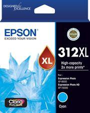 Epson 312XL (C13T183292) Genuine Cyan High Yield Inkjet Cartridge