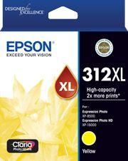 Epson 312XL (C13T183492) Genuine Yellow High Yield Inkjet Cartridge