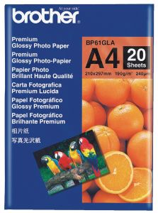 Brother BP61GLA Glossy Paper - 20 Sheets