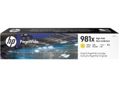 HP #981X Genuine Yellow Ink Cartridge L0R11A - 10,000 pages