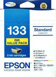 Epson 133 Genuine, 5 Ink Value Pack