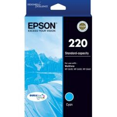 Epson 220 Genuine Cyan Ink Cartridge [C13T293292] - 165 pages
