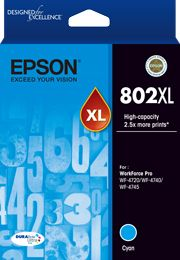 Epson 802 Genuine Cyan XL Ink Cartridge