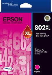 Epson 802 Genuine Magenta XL Ink Cartridge