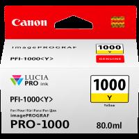 Canon PFI1000 Genuine Yellow Ink Cartridge