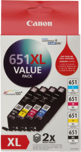 Canon CLI651XL Genuine Ink Value Pack