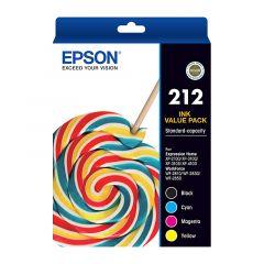Genuine Epson 212 Ink Value Pack C13T02R692 [1BK,1C,1M,1Y]