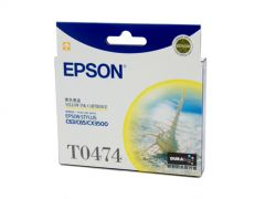 Epson T0474 Genuine Yellow Ink Cartridge - 250 pages