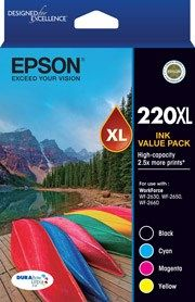 Epson 220XL Genuine High Yield Ink Value Pack [C13T294692] [1BK,1C,1M,1Y]