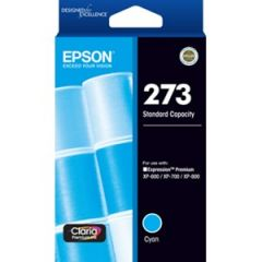 Epson 273 Genuine Cyan Ink Cartridge - 300 pages