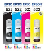 4-Pack Genuine Epson T522 EcoTank Ink Bottle [BK+C+M+Y]