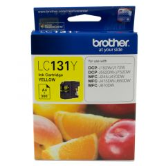Brother LC131 Genuine Yellow Ink Cartridge - up to 300 pages