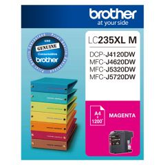 Brother LC235XL Genuine Magenta Ink Cartridge - Up to 1,200 pages