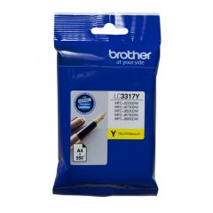 Brother LC3317 Genuine Yellow Ink Cartridge - up to 550 pages