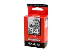 Lexmark #34 Genuine High Yield Black Ink Cartridge - 475 pages