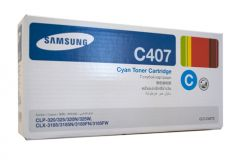 Samsung CLTC407S Genuine Cyan Toner - 1,000 pages