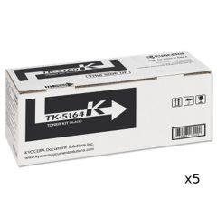 5 x Kyocera TK5164 Genuine Black Toner - 16,000 pages
