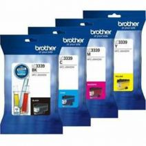 4 Pack Brother LC-3339XL Genuine High Yield Ink Cartridge Combo [1BK, 1C, 1M, 1Y]