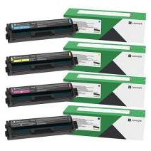 4 Pack Lexmark CX431 Genuine Toner Cartridge Combo (20N30K0 - 20N30Y0) - BK 1,500 pages & CMY 1,500 pages