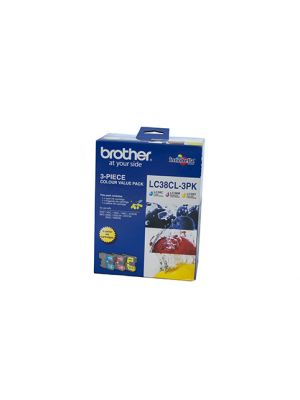 Brother LC38 Genuine CMY Colour Pack - 260 pages each
