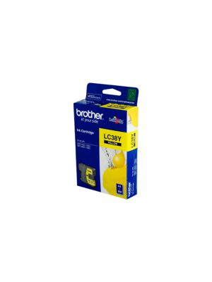 Brother LC38 Genuine Yellow Ink Cartridge - 260 pages