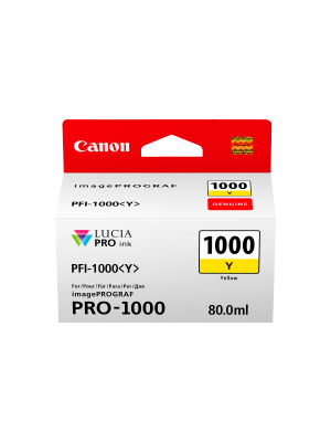 Canon PFI1000 Genuine Yellow Ink Cartridge