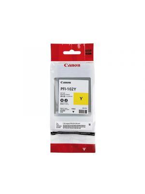 Canon PFI102 Genuine Yellow Ink