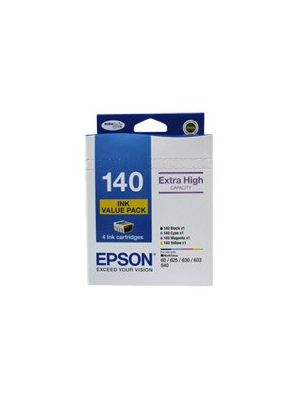 Epson 140 Genuine Ink Value Pack - col 755 pages Blk 945 pages