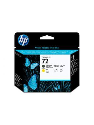 HP #72 Genuine Matte Black / Yellow Printhead C9384A