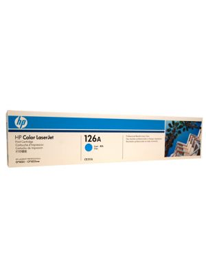 HP #126A Genuine Cyan Toner CE311A - 1,000 pages