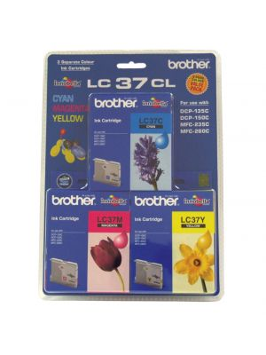 Brother LC37 Genuine CMY Colour Pack - 300 pages each