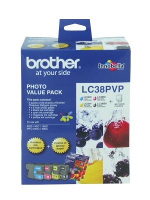Brother LC38 Genuine Photo Value Pack - Refer to singles