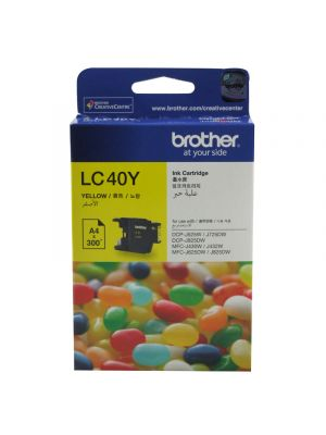 Brother LC40 Genuine Yellow Ink Cartridge - up to 300 pages