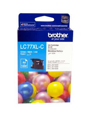 Brother LC77XL Genuine Cyan Ink Cartridge - Up to 1,200 pages