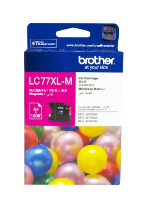 Brother LC77XL Genuine Magenta Ink Cartridge - Up to 1,200 pages