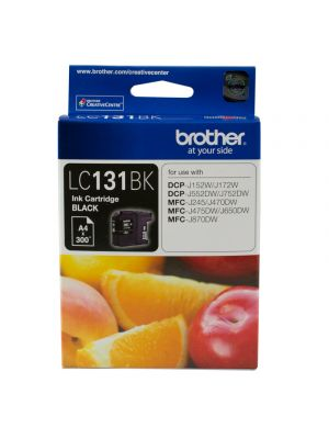 Brother LC131 Genuine Black Ink Cartridge - up to 300 pages
