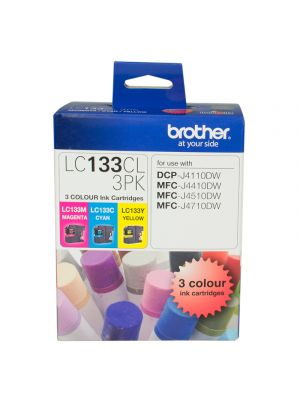 Brother LC133 Genuine CMY Colour Pack - up to 600 pages per colour