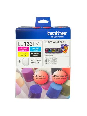 Brother LC133 Genuine Photo Value Pack - up to 600 pages per colour