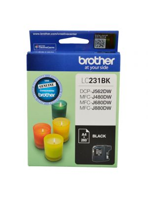 Brother LC231 Genuine Black Ink Cartridge - Up to 260 pages