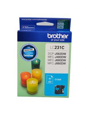 Brother LC231 Genuine Cyan Ink Cartridge - Up to 260 pages