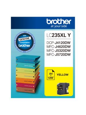 Brother LC235XL Genuine Yellow Ink Cartridge - Up to 1,200 pages