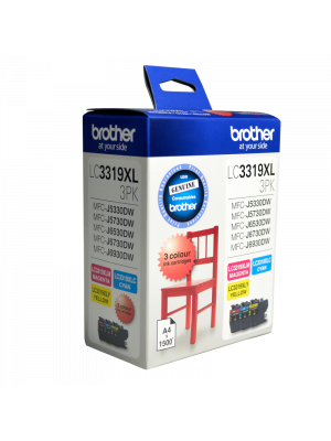 Brother LC3319XL Genuine CMY Colour Pack - up to 1500 pages each