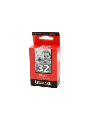 Lexmark #32 Genuine Black Ink Cartridge - 200 pages